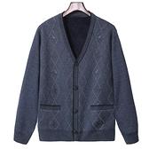 秋冬季毛衣男加厚加絨中老休閒寬鬆開衫夾克男裝上衣外套潮【2021歡樂購】