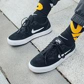 【三月折後$1880】NIKE SB Chron SLR 男女鞋 滑板 運動 休閒 穿搭 基本 簡約 情侶 黑 白 CD6278-002