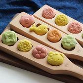 烘焙工具綠豆山藥糕點青團子創意南瓜餅干饅頭冰皮木質月餅模具YYS    易家樂