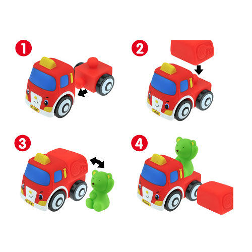 【奇買親子購物網】K's Kids Popbo Vehicles - 彩色安全積木