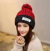 秋冬月子毛線帽子冬季女保暖套頭帽加厚冬天月子帽產後產婦針織帽
