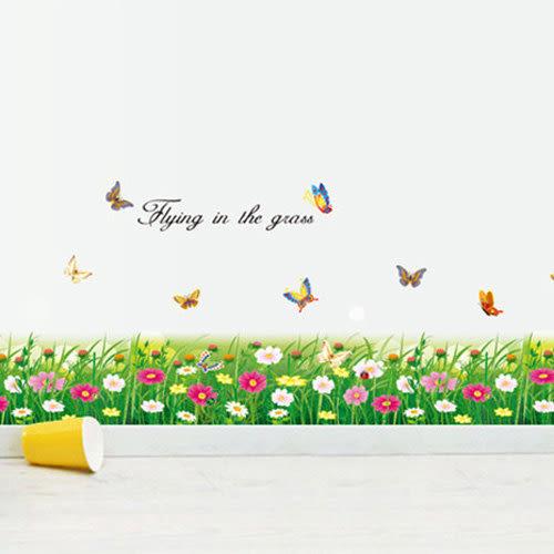 壁貼 清新蝴蝶花 創意壁貼 無痕壁貼 壁紙 牆貼 室內設計 裝潢【BF0875】Loxin