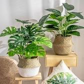 北歐客廳仿真綠色植物綠植裝飾假花辦公桌ins小盆栽擺件創意家居