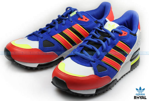 Adidas 新竹皇家 ZX 750 藍白/紅橘 麂皮 網布 休閒運動鞋 男女款 NO.A6724