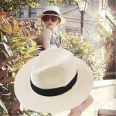 草帽女夏小清新韓版蝴蝶結出游遮陽帽防嗮太陽帽沙灘小頭圍帽子女