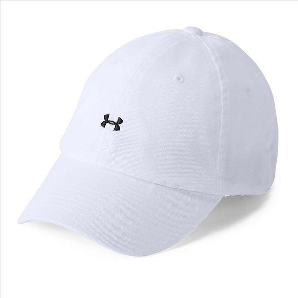 樂買網 Under Armour 18SS 女士UA Favorite Logo運動帽 1306295-100 白色