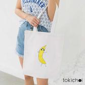 東京著衣-香蕉女孩印花帆布包(181199)