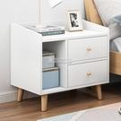 床頭櫃 床頭柜簡約現代迷你小型簡易北歐網紅臥室多功能收納儲物床邊柜子