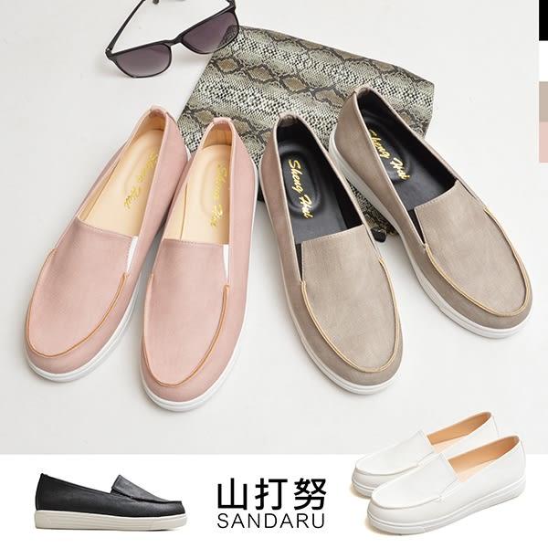 懶人鞋 素面壓紋樂福鞋-山打努SANDARU【030328#46】