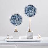 酒櫃裝飾品大理石擺件創意現代簡約輕奢客廳家居飾品水晶原石擺設ATF 青木鋪子