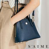 斜背包-名媛兩用貝殼包(S)   珍珠紋 肩背 包包 側背包【SBG29-B166S】S'AIME東京企劃