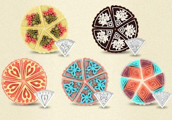 月餅模 餅乾模 50g  三角形 一壓具 五片花模  想購了超級小物