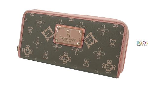 Roberto Mocali 諾貝兔 自然森林 NEW 系列 茉綠花紋 單拉鍊長夾 RM-75203