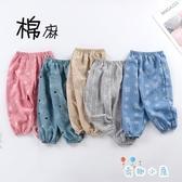 兒童燈籠長褲夏季薄款棉麻男女童空調褲【奇趣小屋】