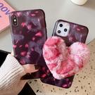 蘋果 iPhone11 Pro Max iPhoneXS Max XR iPhone8 iPhone7 粉豹紋愛心 手機殼 全包邊 保護殼