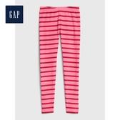 Gap女童棉质舒适松紧腰休闲裤495573-粉色條紋