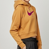 Nike NSW swsh hoodie flc bb 女款 卡其 運動 帽T 連帽 上衣 CU5677-201