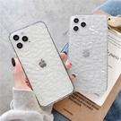 iPhone12 蘋果手機殼 預購 可掛繩 超好看的透明鑽石紋 矽膠軟殼 i11/iX/i8/i7/SE