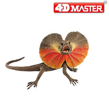 【4D Master】褶傘蜥 傘蜥蜴 Frilled Lizard 立體拼組模型 動物系列 20171A/26582