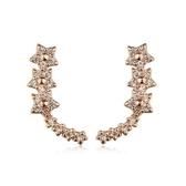 耳環 玫瑰金 925純銀鑲鑽-U型星星生日情人節禮物女飾品2色73gs139【時尚巴黎】