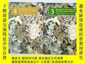 二手書博民逛書店BROOKER s罕見Badges Of The Canadian Army3、4【加拿大軍隊徽章】兩本合售Y