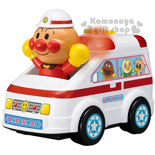 〔小禮堂嬰幼館〕麵包超人 救護車造型聲動玩具車《白.舉雙手.盒裝》適合1.5歲以上 4971404-31314