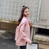 秋季外套女韓版學生bf潮原宿寬鬆糖果色工裝