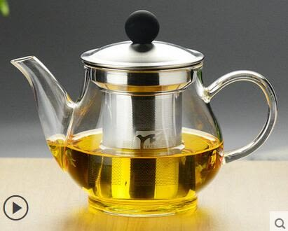 禦鳳壺 加厚耐熱高溫玻璃煮泡花茶水壺不銹鋼過濾茶具套裝