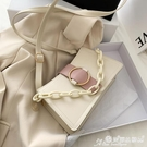 小方包 上新女包小方包潮2021夏天韓版高級感洋氣小眾百搭側背斜背小包包 晶彩 99免運
