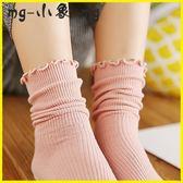 堆堆襪 襪子女花邊堆堆襪中筒襪日系木耳邊棉襪