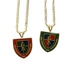 Roberta di Camerino 義大利極盾牌造型項鍊(紅/綠)990157