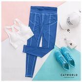 Catworld 線條美感彈力運動褲【12001842】‧S-XL