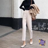 寬管褲 2019春裝新款高腰褲子顯瘦韓版小腳哈倫褲休閒寬鬆西裝九分褲女裝 2色S-2XL 交換禮物