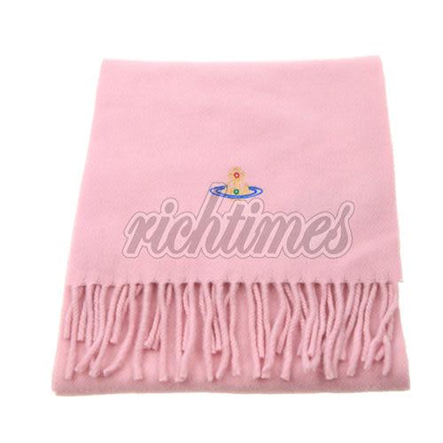 【裕代 Vivienne Westwood 】星球羊毛素色圍巾(灰)VW3C2522