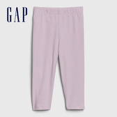 Gap女幼童 柔軟舒適純色緊身褲 576782-淺丁香紫