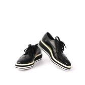 【PRADA】皮革厚底牛津鞋(黑色) 36.5 (展示品) PR51010002