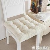 冬季雙面羊羔絨坐墊辦公室短毛絨椅墊學生宿舍凳子椅子加厚保暖墊 優拓
