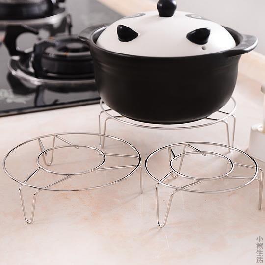 廚房不銹鋼蒸鍋高腳小蒸架 蒸飯隔熱架蒸盤器隔水蒸菜架子JRM-1566