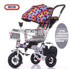 一鍵旋轉兒童腳踏車嬰兒手推車【銀色旋轉座椅折疊充氣輪蓬】LG-286874