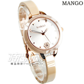 MANGO 6點花朵時刻 陶瓷錶 藍寶石水晶 女錶 玫瑰金 小錶 山茶花 手環錶手鍊錶 細錶帶 MA6689L-13