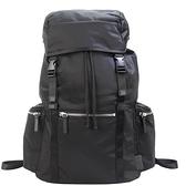 【南紡購物中心】agnes b雙側口袋多功能束口後背包-黑