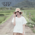 Queen Shop【01096629】蕾絲花卉造型寬版上衣*現+預*