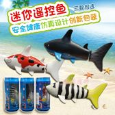 微型迷你電動遙控船充電遙控鯊魚小魚快艇潛水艇電動兒童益智玩具