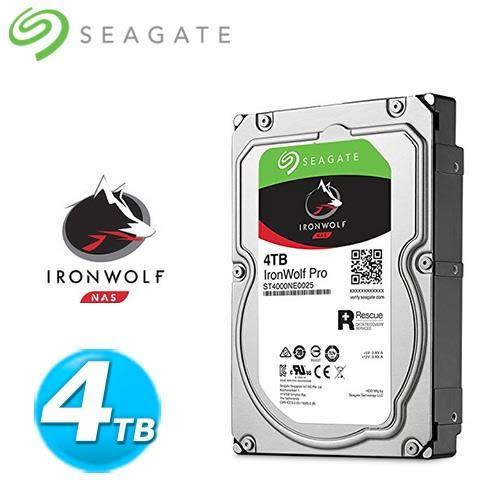 Seagate 那嘶狼【IronWolf Pro】4TB 3.5吋 NAS硬碟