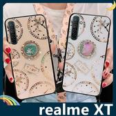 realme XT 時光玻璃保護套 電鍍鑲鑽 潮牌TIME 水鑽 指環支架 全包款 手機套 手機殼