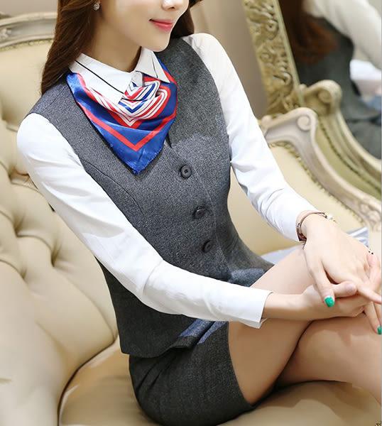 OL女士馬甲套裝~*艾美天后*~馬甲+裙子or褲子職業女裝商務西服修身顯瘦正裝套工作服