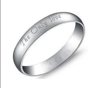 925純銀  尾戒 情侶戒指 【唯一的愛】