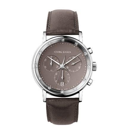 喬治傑生(GEORG JENSEN)-KOPPEL 417-38 MM 褐灰色珠母貝錶盤計時碼錶