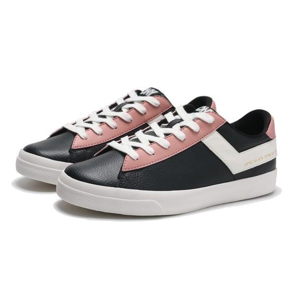 PONY 休閒鞋 黑粉白 滑板鞋 皮革 輕量 百搭 女 (布魯克林) 83W1TS01BK