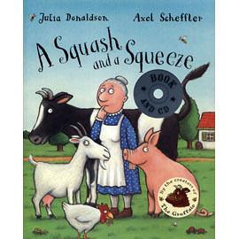 【麥克書店】A SQUASH AND A SQUEEZE/英文繪本附CD/作家Julia Donaldson《句型.幽默》(中譯:又窄又小的房子)